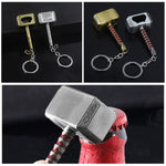 1pcs Beer Bottle Openers Multifunction Hammer Of Thor Shaped Beer Bottle Opener With Long Handle Bottler Opener Keychain
