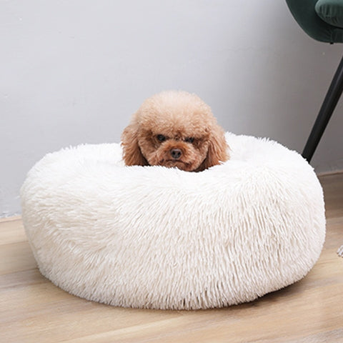 Autumn and Winter Round Long-haired Pet Mat Suitable fo Cats and Dogs Sleeping Feel Warm and Comfortable During in Winter