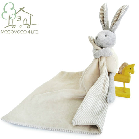 Luxury Cartoon Cotton Baby Appease Towel with Bunny Plush Toys Safe to Bite Newborn Comforter Multifunction Saliva Tissue