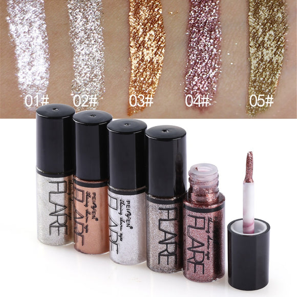 Professional Shiny Eye Liner Pen Cosmetics for Women Silver Rose Gold Color Liquid Glitter Eyeliner Makeup Beauty Tools
