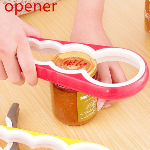 4 in 1 Multifunction Screw Cap Jar Bottle Wrench Creative Gourd-shaped Can Opener Screw Kitchen Tools