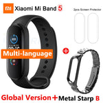 In Stock Xiaomi Mi Band 5 Global Version Fitness Bracelet AMOLED Color Screen Heart Rate Monitor Miband 5 Sports Smart Band