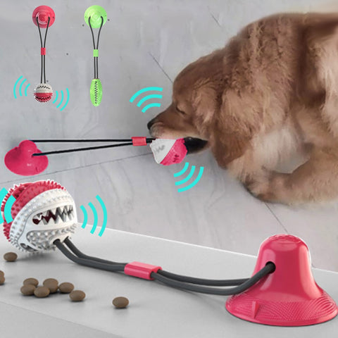 Bite Dog Pet Toys Multifunction Pet Molar Rubber Chew Ball Cleaning Teeth Safe Elasticity Soft Puppy Suction Cup Dog Biting #15