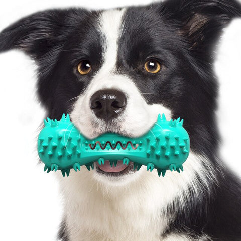 Multifunction Pet Dog Molar Bite Toy Interactive Training Dogs Tooth Cleaner Brushing Stick Pets Squeaky Chewing Cleaning Toys