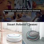 Smart Robot Vacuum Cleaner Poweful Suction home mopping Sweeping cleaning robot Automatic vacuum USB Rechargeable