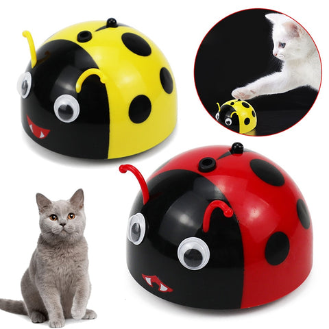 Intelligent Escaping Pet Toy Electric Smart Escape Toy Fun Can High-Speed Infrared Sensor Kid Dog Cat Cute Beetle ShapeToys