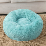 Donuts Dog Bed Basket Calming Bed Hondenmand Pet Kennel Cats House Shag Vegan Fur Donut Cuddler Cat Beds for Small Large Dogs