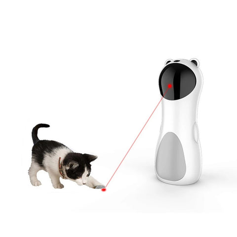 Automatic Cat LED Laser Toys Interactive Smart Teasing Pet Funny Handheld Toy Multi-Angle Cat Exercise Training Entertaining Toy