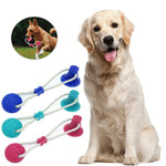 Multifunction Pet Molar Bite Dog Toys Rubber Chew Ball Cleaning Teeth Safe Elasticity TPR Soft Puppy Suction Cup Biting Toy ^o^