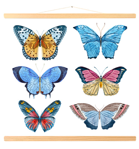 Watercolor butterflies (454)