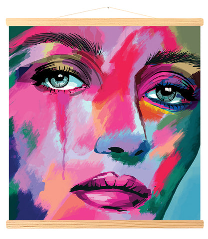 Multicolored portrait (459)