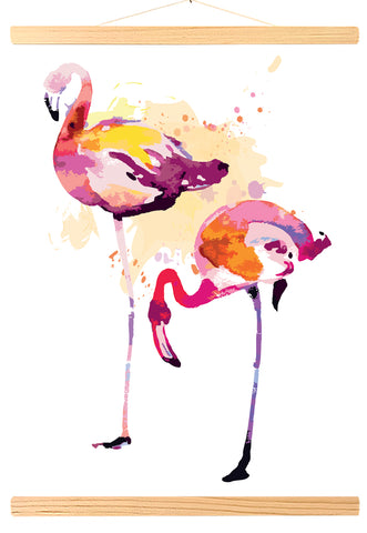 Flamant rose Aquarelle (473)