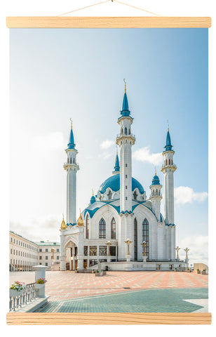 Kul-Sharif Mosque in Kazan (Russia) against blue sky and clouds (532)