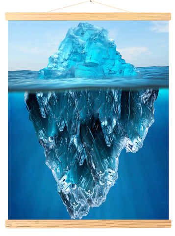 Tip of an iceberg floating in water (562)