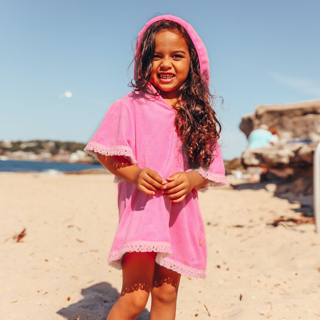 Salty Ink Beach Boho Top Candy Pink #114