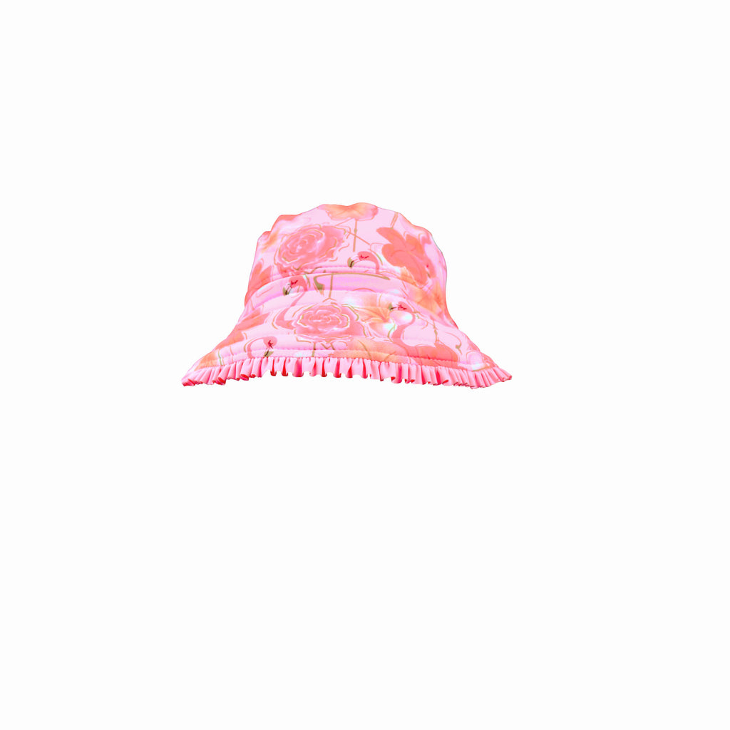 Salty Ink Miss Flamingo Reversible Sunhat