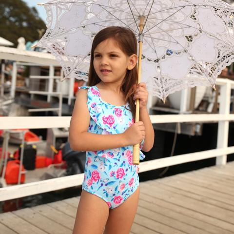 Salty Ink Miss Bouquet Retro One Piece (Size 2-7)