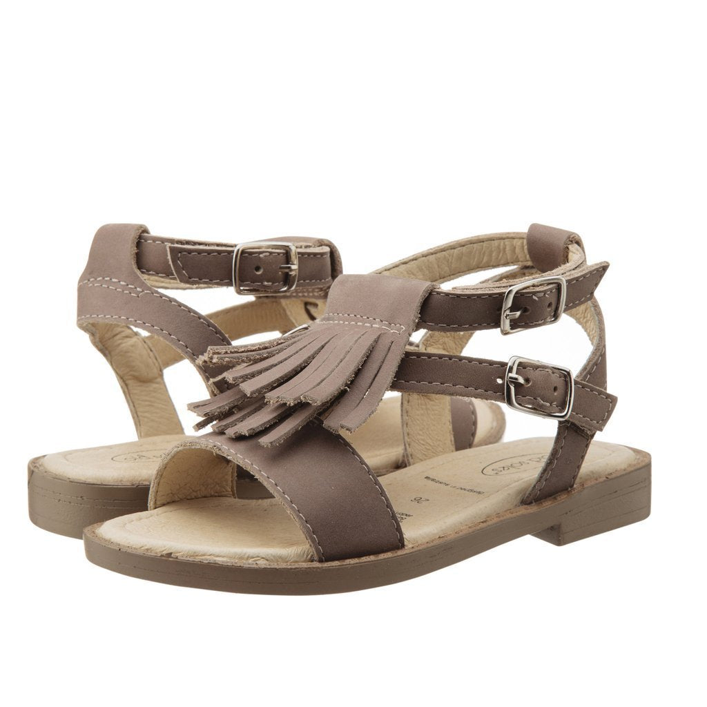 Old Soles Stylin Fringe Summer Sandal in Distressed coffee