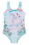 Seafolly Mystical Garden Unicorn Tank - Emerald Blue (Size 0-7)