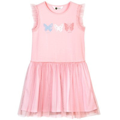 Petit Lem Pink Butterfly Dress - Sweet Thing Baby & Childrens Wear