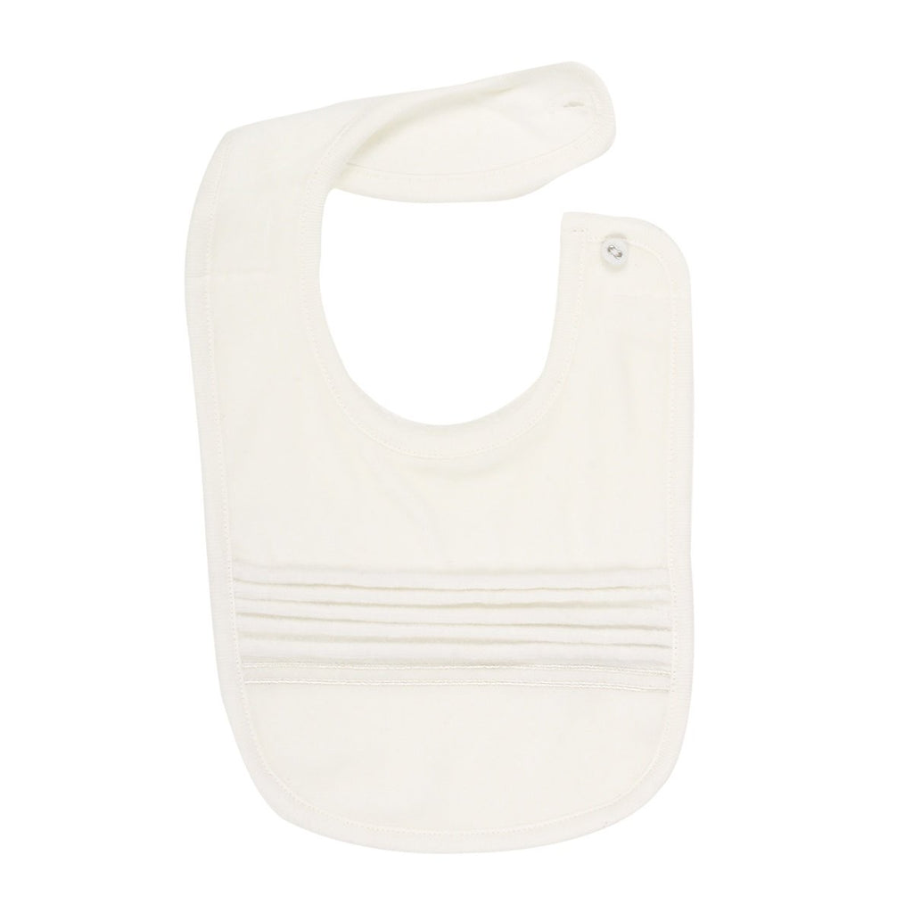 Bebe Boys Bib with Pleats - Ivory