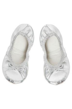 Jiffies Ballet Slipper in Silver - Sweet Thing Baby & Childrens Wear