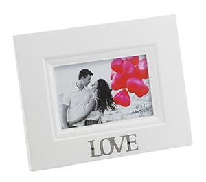 "Stylesetter Frame White 'Love'  4 x 6"" - Sweet Thing Baby & Childrens Wear"