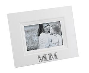 "Stylesetter Frame White 'Mum'  4 x 6"" - Sweet Thing Baby & Childrens Wear"