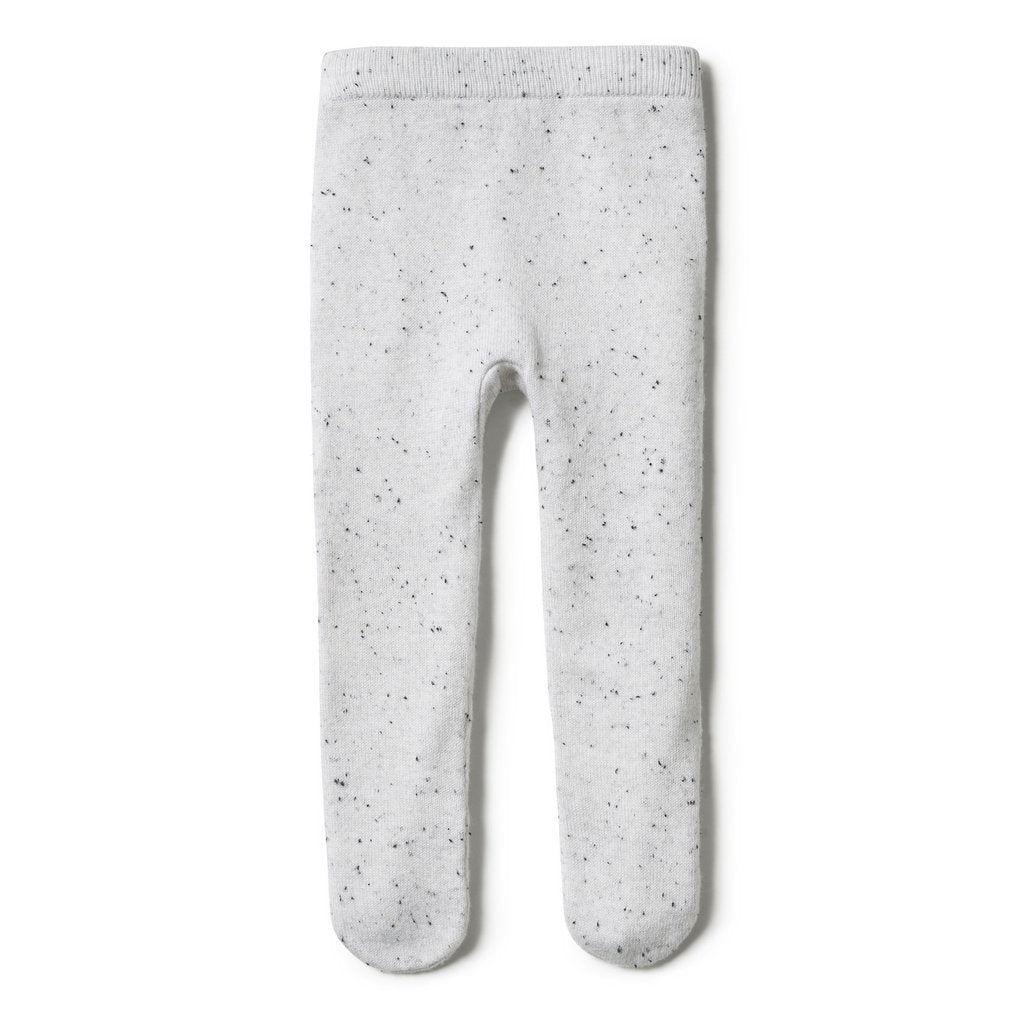 Wilson & Frenchy Grey Speckle Knitted Legging with Feet