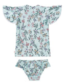 Seafolly Mystical Garden S/S Rashie Set - Multi (Size 0-7)