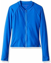 Seafolly L/S Zip Front Rashie - Blue Lagoon (Size 8-14)