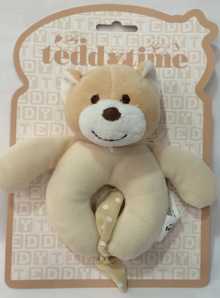 Teddy Time- Teddy Bear Rattle-15cm - Sweet Thing Baby & Childrens Wear