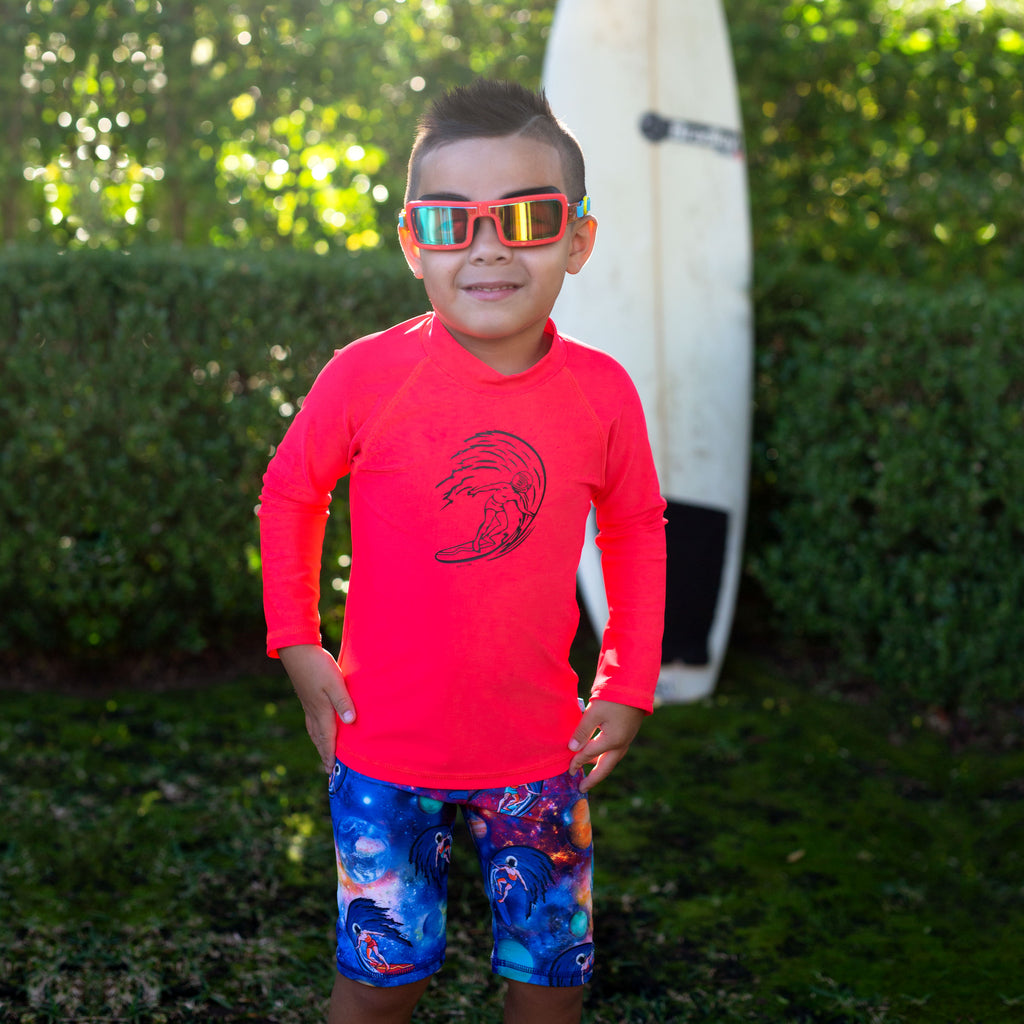 Salty Ink Space Surfer Long Sleeve Rashvest (Size 2-7)