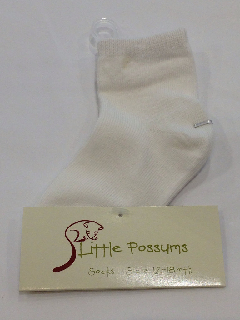 Little Possums Plain Socks - Sweet Thing Baby & Childrens Wear