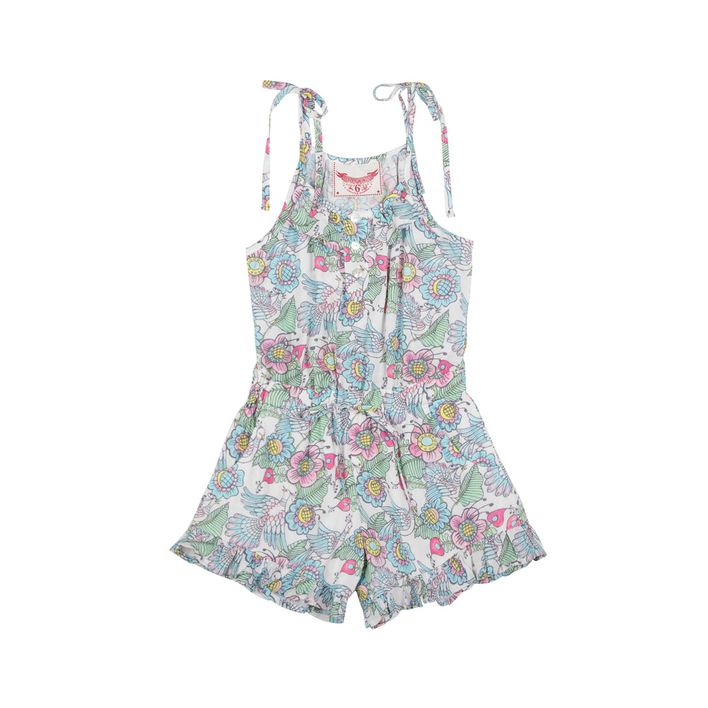 Paper Wings Frilled Romper - Flight of Fancy