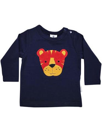 Korango Little Tiger Applique Top - Navy