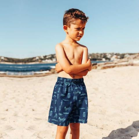 Salty Ink Board Shorts - Bug (Size 0-7)