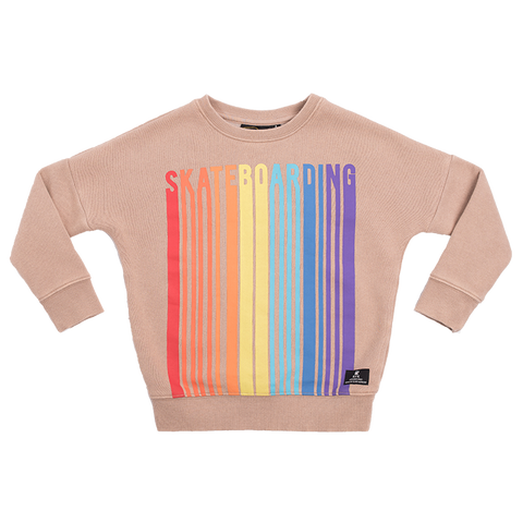 Rock Your Baby Skate Park L/S T-Shirt - Oatmeal