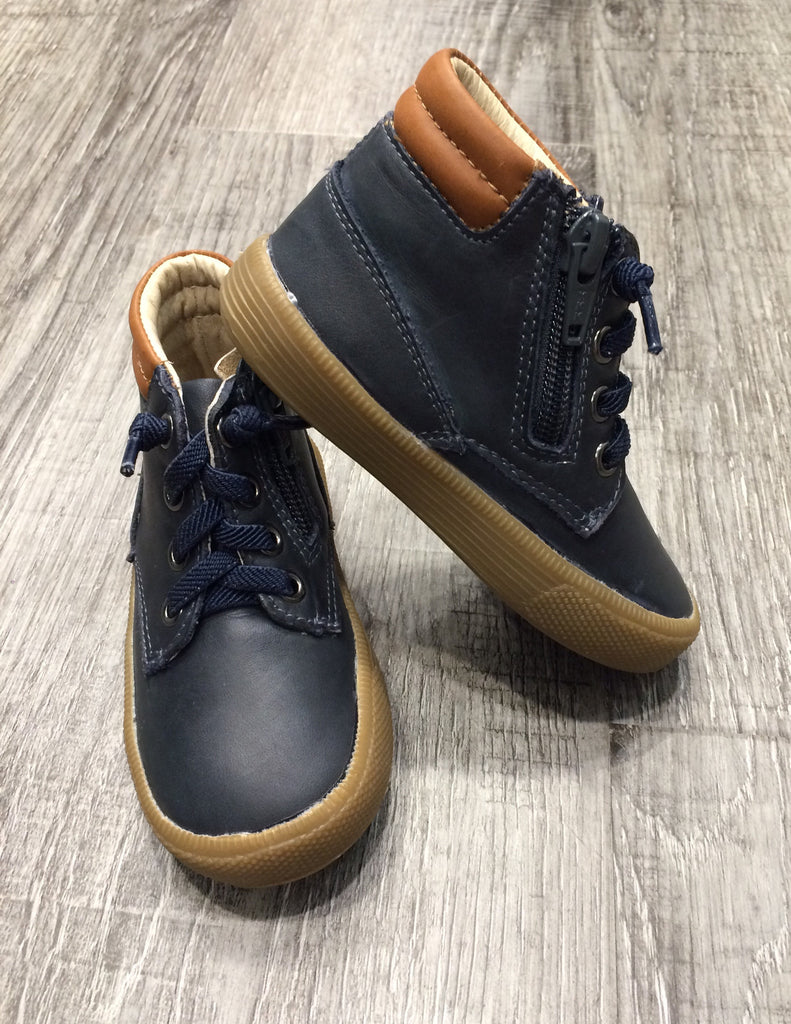 Old Soles Rover Distressed Navy/Tan - Sweet Thing Baby & Childrens Wear