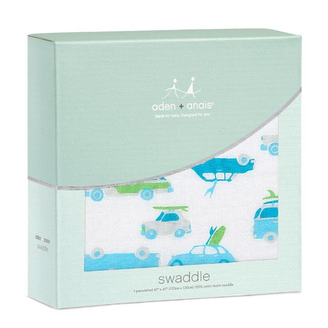 Aden & Anais Single Classic Swaddle - Chasing Waves
