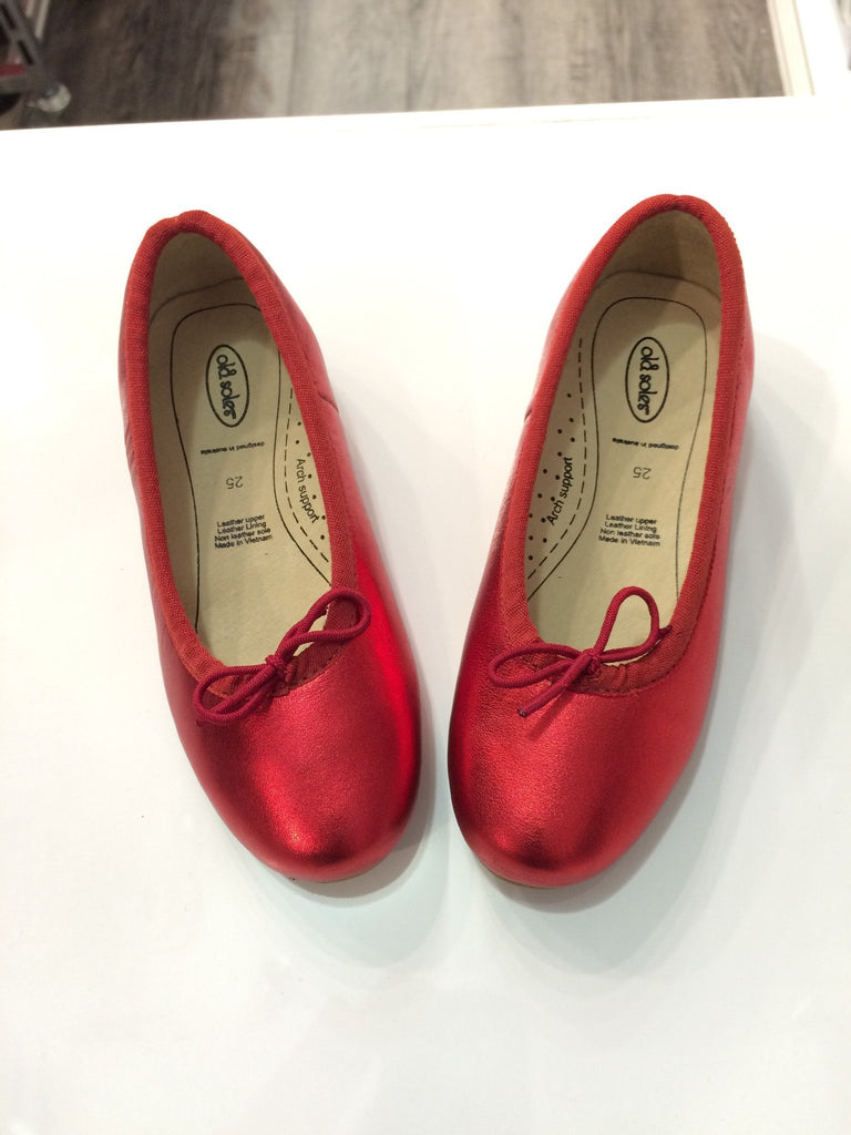 Old Soles Brulee Shoe in Red Foil - Sweet Thing Baby & Childrens Wear