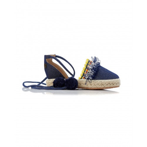 Walnut Arkie Girl's Espadrille Denim