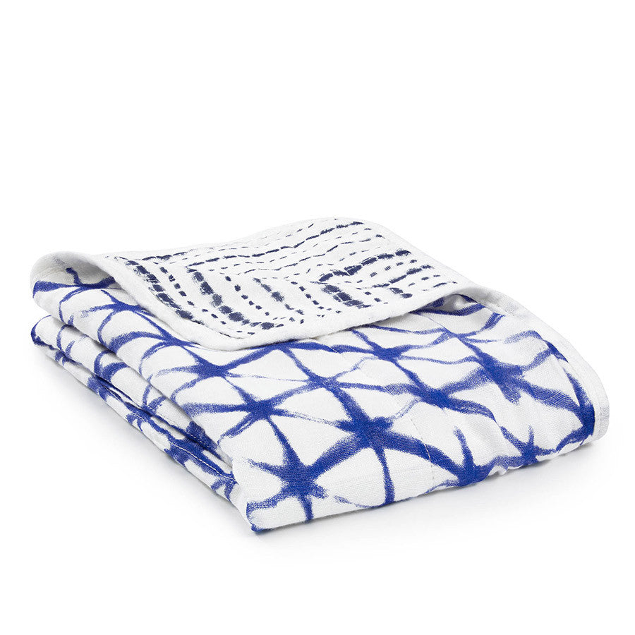 Aden & Anais silky soft stroller blanket - Indigo Shibori - Sweet Thing Baby & Childrens Wear