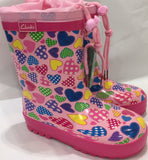 Clarks Puddle/Paddle Gum Boot Shoe in Pink Multi Pattern - Sweet Thing Baby & Childrens Wear