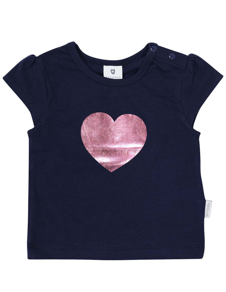 Korango Heart Top - Navy