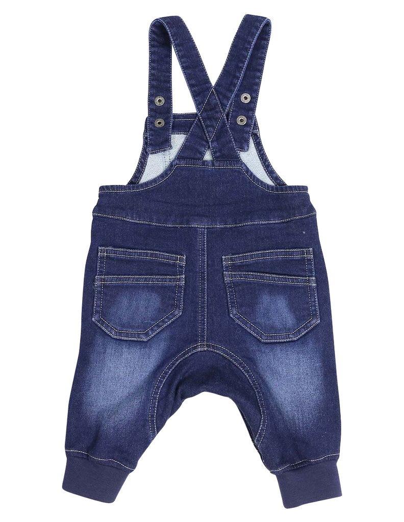Korango Tiger Denim Knit Overall - Dark