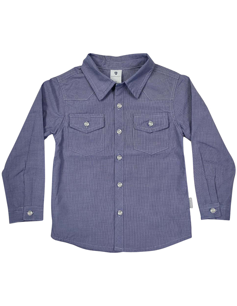 Korango City Shirt - Blue Check
