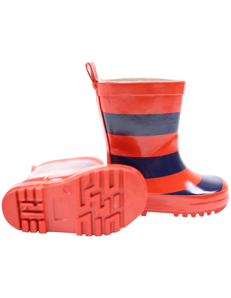 Korango Gumboot Stripe - Red/Navy Stripe