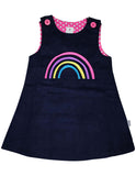Korango Standing Out From the Crowd Pinafore - Navy Rainbow