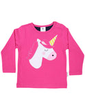 Korango Standing Out From the Crowd LS Tee - Pink Unicorn